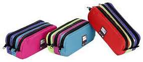 Cover of Three Compartment Pencil Case Pink Colours