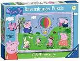 Cover of Peppa Pig Giant Floor Puzzle with Large Shaped character pieces