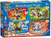 Cover of Paw Patrol Four Large Shaped Puzzles