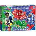 Cover of PJ Masks Four Large Shaped Puzzles