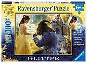 Cover of Disney Beauty and the Beast Glitter Puzzle XXL100