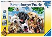 Cover of Delighted Dogs 300 piece puzzle with Larger pieces