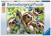 Cover of Sloth Selfie 500 piece puzzle