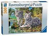 Cover of White Tigers 500 piece puzzle