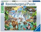 Cover of Waterfall Safari 1500 piece Puzzle