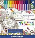 Cover of Triplus Fineliner 15 Pack Johanna Basford