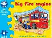 Cover of Big Fire Engine Shaped Floor Puzzle