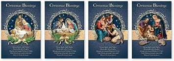 Cover of Box of 16 Christmas Cards - Christmas Blessings