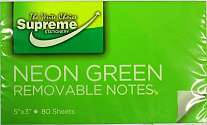 Cover of Supreme Sticky Notes 5x3 Green