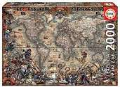 Cover of World Map Pirates 2000 Piece Puzzle