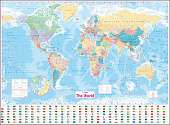 Cover of Collins World Wall Laminated Map