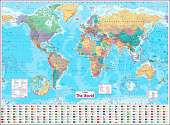Cover of Collins World Wall Paper Map