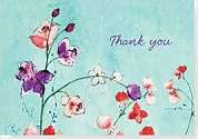 Cover of Fuchsia Blooms Thank You Notes