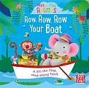 Cover of Peek and Play Rhymes: Row, Row, Row Your Boat: A baby sing-along board book with