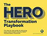 Cover of The HERO Transformation Playbook: The step-by-step guide for delivering large-sc