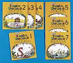 Cover of Jolly Phonics Workbooks Set 1-7 in Precursive Letters (American English edition)