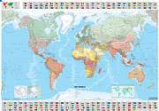 Cover of Michelin World Laminated Wall Map (1cm = 285 km)