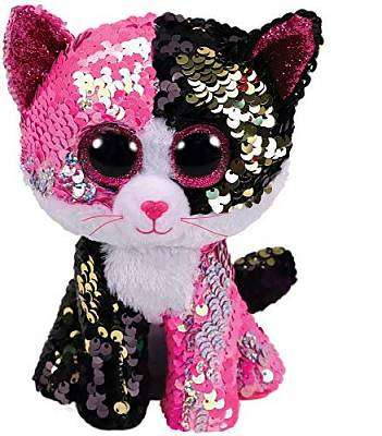 "Cover of Flippable Malibu Cat Beanie Boo 6"" - Ty Uk - 008421362615"