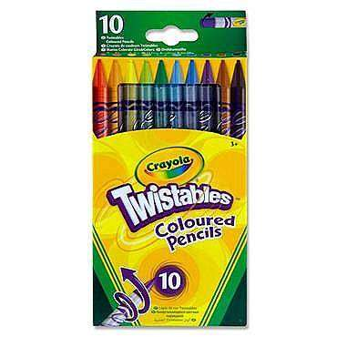 Cover of Crayola Twistables Colour Pencils 10 pack - 071662687458