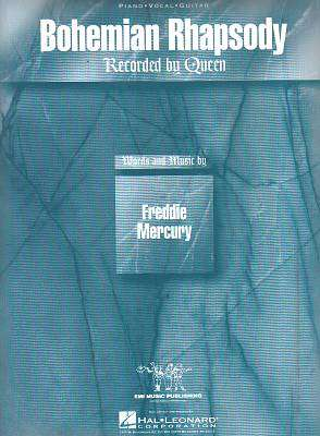 Cover of Bohemian Rhapsody Sheet Music (Piano/vocal/guitar Singles) - Freddie Mercury - 073999533583
