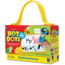 Cover of Hot Dots Jr. Beginning Phonics - Learning Resources - 086002023520