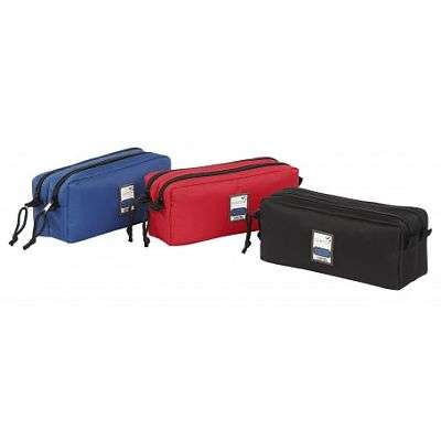 Cover of Pencil Case 2 Compartment - Assorted Colours Red/Black/Blue - Viquel - 3135258773486