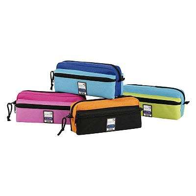 Cover of Pencil Case Triple Zip Teknik Assorted Colours - 3135259797344