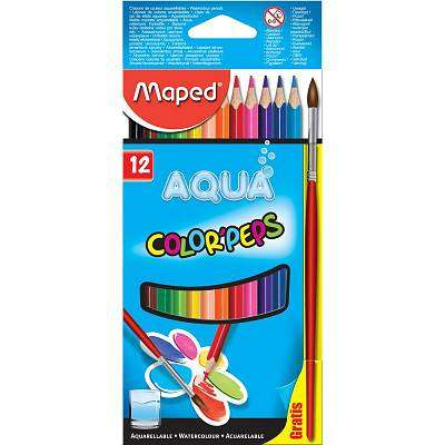Cover of Maped Box 12 Color'peps Water Colour Pencils - 3154148360117