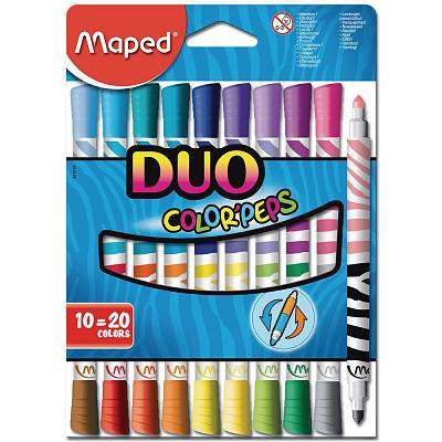 Cover of Maped Pkt.10 Color'peps Duo Markers - 3154148470106