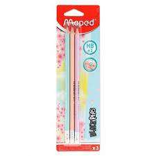 Cover of Maped Blackpep's Card 3 Ergo HB Pencils with eraser - Maped - 3154148517191