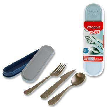 Cover of Maped Picnik Concept 3pce Stainless Steel Cutlery Set Storm Blue - 3154148704034