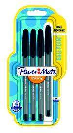 Cover of Paper Mate Black  Ballpoint Pen 4 Pack - 3501179567143