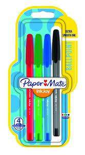 Cover of Paper Mate Inkjoy Ultra Smooth Ballpoint Pen Mixed 4 Pack - 3501179567174