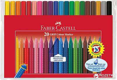 Cover of Faber-Castell Grip Markers 20 Pack - Faber - 4005401553205