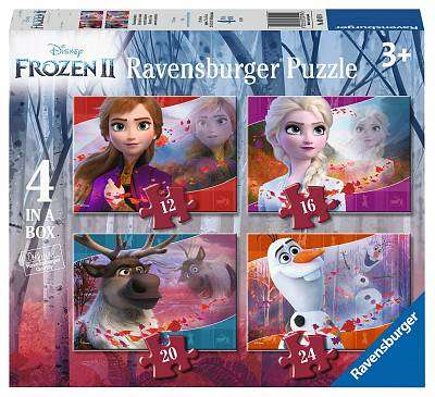 Cover of Frozen 2 - 4 In A Box Puzzle - Ravensburger - 4005556030194