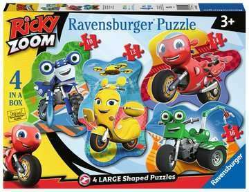 Cover of Ricky Zoom Four Large Shaped Puzzles - Ravensburger - 4005556030552