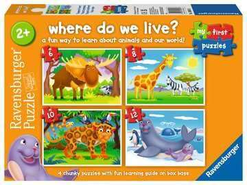 Cover of Where do we Live? (6,8,10,12 piece puzzles) - Ravensburger - 4005556030583