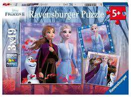 Cover of Frozen 2, 3*49 piece jigsaw puzzle - Ravensburger - 4005556050116