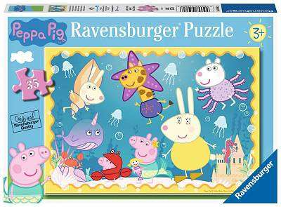 Cover of Peppa Pig Underwater Adventure 35 piece Puzzle - Ravensburger - 4005556050628