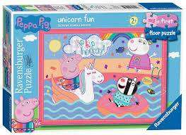 Cover of Peppa Pig Unicorn My First Floor 16 piece Puzzle - Ravensburger - 4005556050659