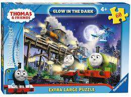 Cover of Thomas & Friends 60pc Glow In The Dark Puzzle - Ravensburger - 4005556069057