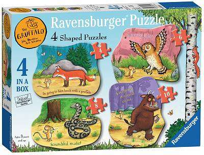 Cover of The Gruffalo Four Shaped Puzzles (4,6,8,10pc) - 4005556069804