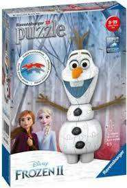 Cover of Frozen 2, Olaf Shaped 54 piece 3D Puzzle - Ravensburger - 4005556111572