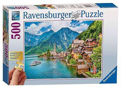 Cover of Hallstadt, Austria Extra Large 500 piece Puzzle - Ravensburger - 4005556136872