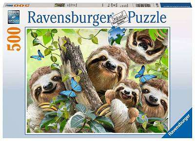 Cover of Sloth Selfie 500 piece puzzle - Ravensburger - 4005556147908