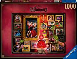 Cover of Villainous Queen Of Hearts 1000 Piece Puzzle - Ravensburger - 4005556150267