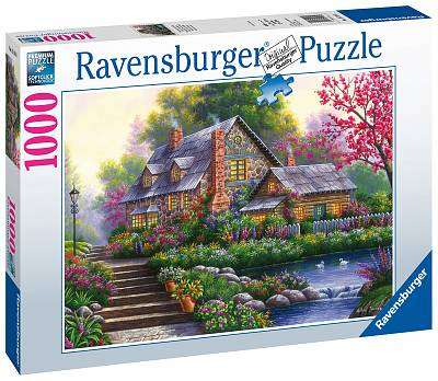 Cover of Romantic Cottage 1000 piece puzzle - Ravensburger - 4005556151844
