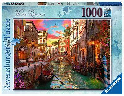 Cover of Venice Romance 1000 piece puzzle - Ravensburger - 4005556152629