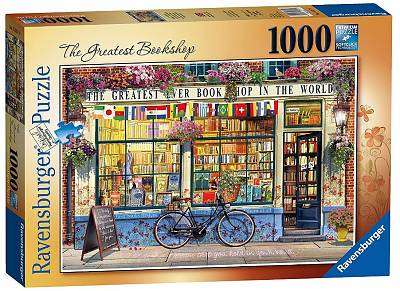 Cover of The Greatest Bookshop 1000 piece puzzle - Ravensburger - 4005556153374
