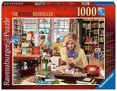 Cover of The Bemused Bookseller 1000 piece puzzle - Ravensburger - 4005556164189